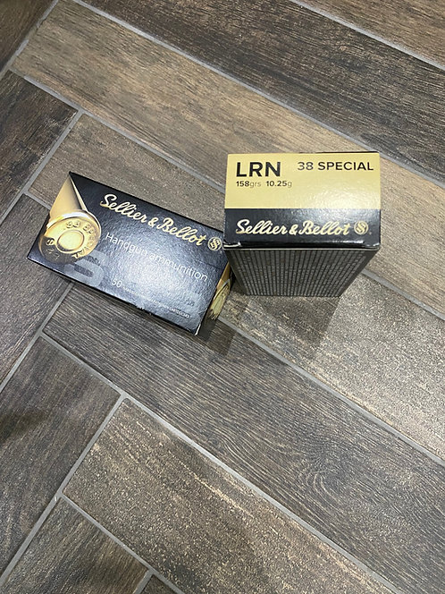 .38 Special Sellier and Bellot LRN 158gr (50)
