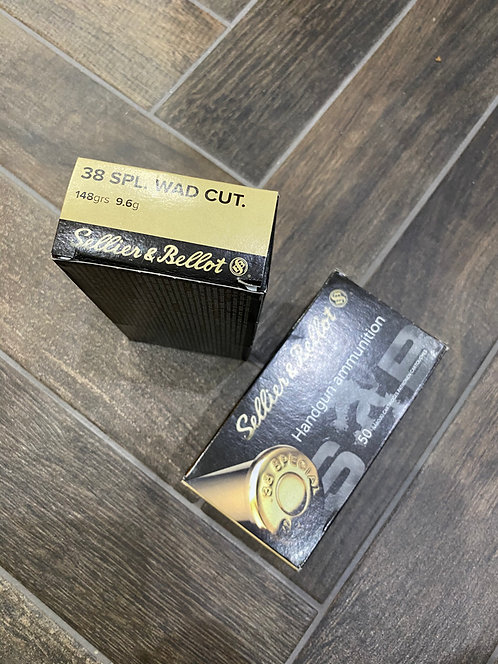 .38 Special Sellier and Bellot Wad Cutter 148gr (50)