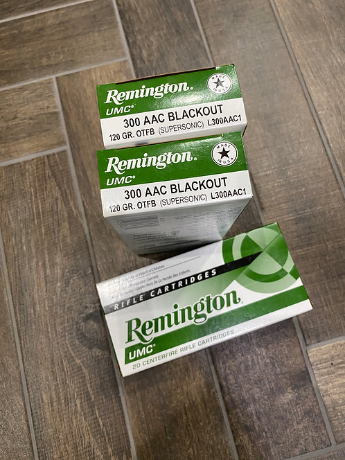 300 AAC Blackout Remington UMC Ammunition 120gr OTFB (20)