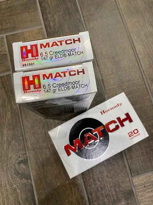 6.5 Creedmoore Hornady ELD Match 147gr Ammunition (20)