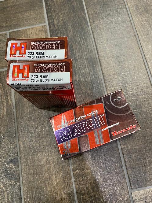 .223 Hornady Superformance ELD Match 73gr Ammunition (20)