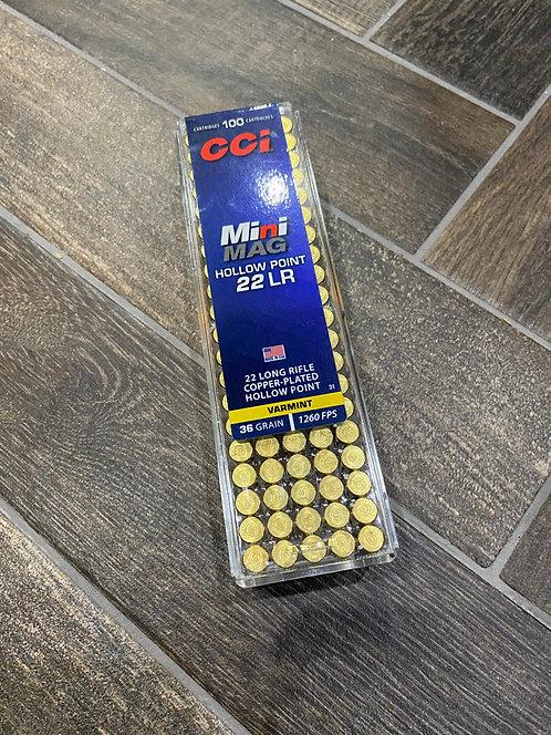 .22LR CCI Mini Mag Hollow Point 36gr Ammunition (100)
