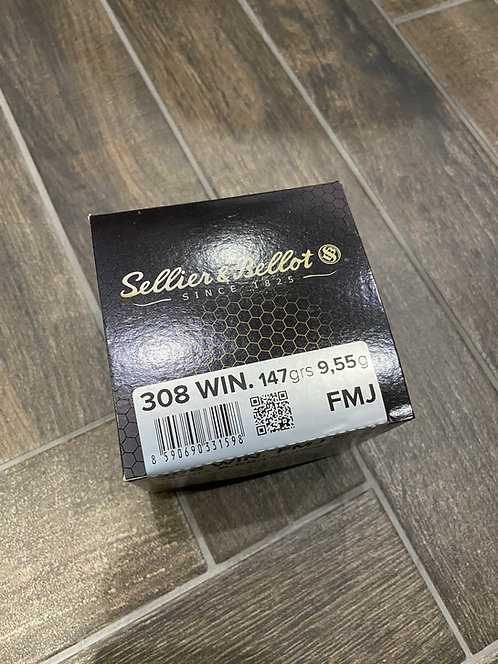 308 Sellier and Bellot FMJ 147gr Ammunition (50)