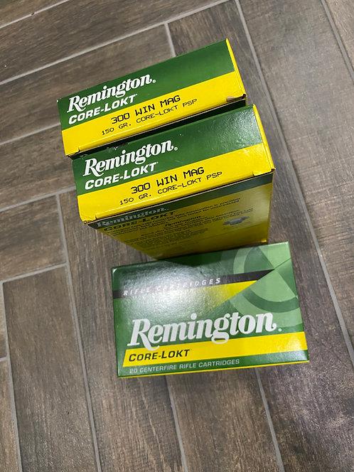 .300 WinMag Remington Core Lokt PSP 150gr (20)