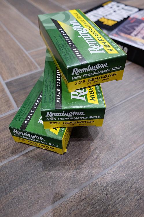 .223 Remington High Performance Rifle Soft Point Ammunition (20)