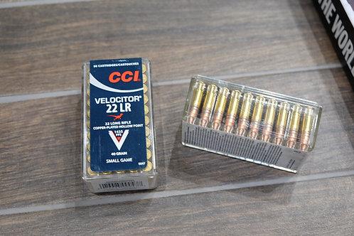 .22LR CCI Velocitor Hollow Point 40gr Ammunition (50)