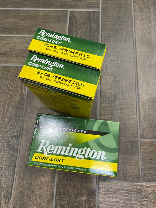 30-06 SPG Remington Core Lokt PSP 150gr (20)