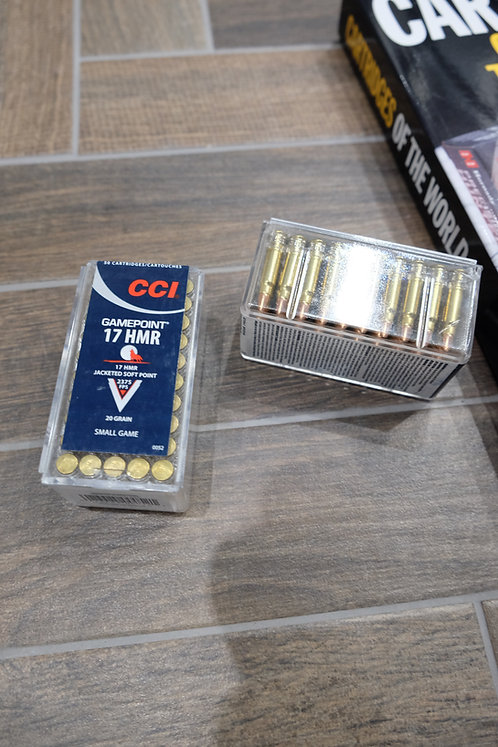 .17HMR CCI Gamepoint 20gr Ammunition (50)