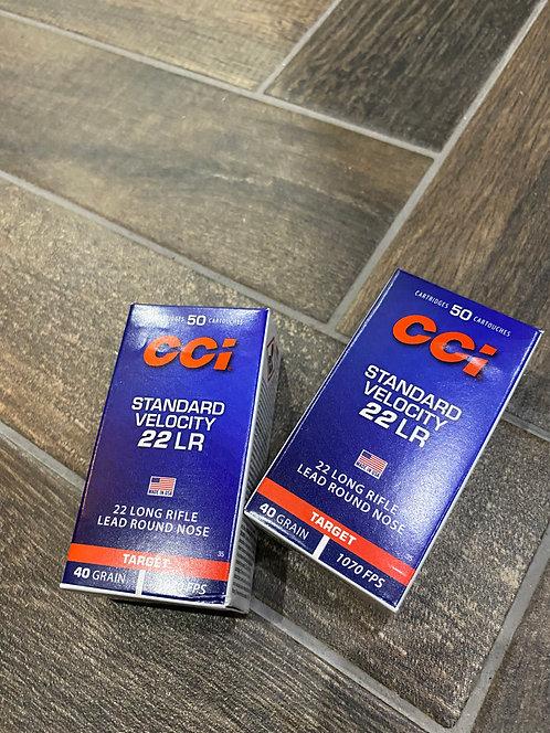 .22LR CCI Standard 40gr Ammunition (50)