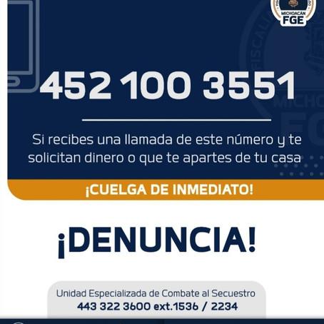 A salvo joven víctima de extorsión virtual en Pátzcuaro