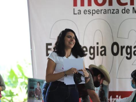 En Morena estamos en movimiento y no nos vamos a detener: Giulianna Bugarini