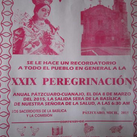 INVITAN A TRADICIONAL PEREGRINACIÓN A CUANAJO