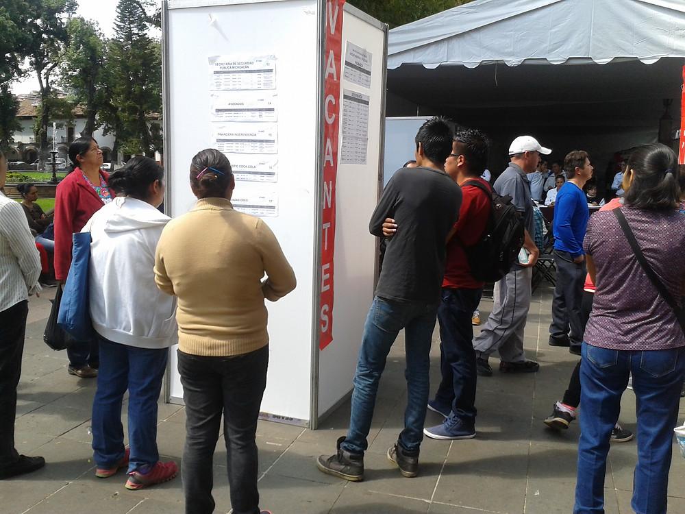 Feria del empleo en Pátzcuaro