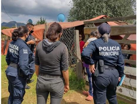 Policía de Pátzcuaro brinda apoyo a una mujer, y sus menores hijos, víctimas de violencia doméstica