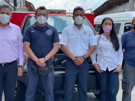 Equipa gobierno de Julio Arreola a Bomberos y a Protección Civil