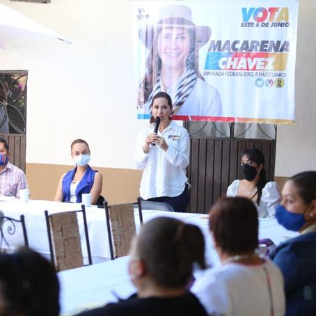 Buscará Macarena Chávez cerrar la brecha salarial entre hombres y mujeres
