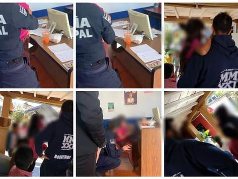 POLICÍA PÁTZCUARO RESGUARDA A MADRE E HIJA EN SITUACIÓN DE RIESGO