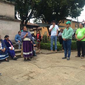 LUIS MUÑOZ VISITA LA COMUNIDAD DE CUANAJO