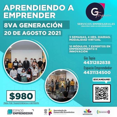 Aprendiendo a Emprender, la apuesta para desarrollar emprendimientos de éxito en Michoacán