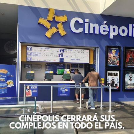 CINÉPOLIS PÁTZCUARO CIERRA POR CONTIGENCIA DE COVID-19