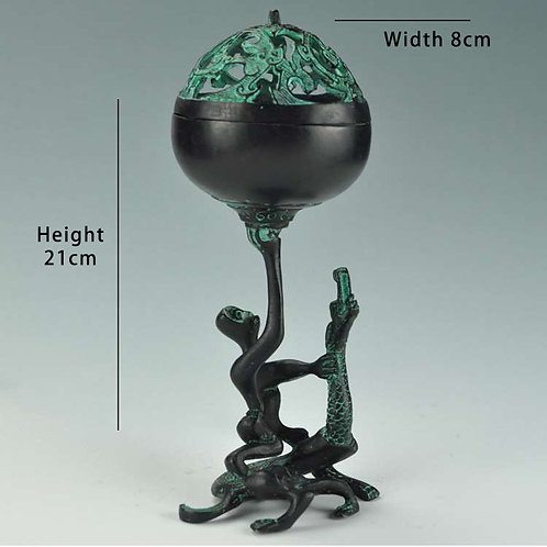Bronze Feng Shui - Man Subdue Dragon