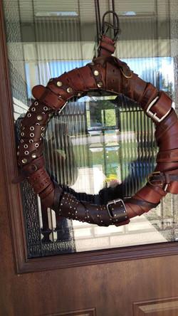Leather Belt Wreath