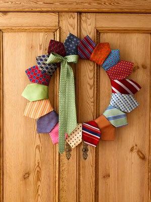 Dad's Old Ties Wreath