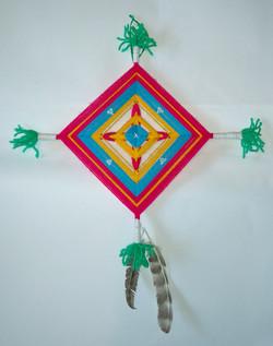 Godseye weaving