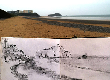 Sketching on holiday.