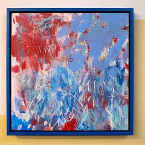 Marco lacado en azul