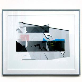 Papel de color. Passepartout con ventana