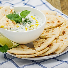 Tzatziki and Pita Bread Plater for 10 people