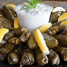 DOLMATHES w/ Beef and Lamb (two pieces per person for 10 people)