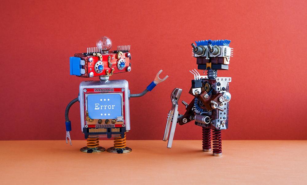 Robots undertaking maintenance and support work.