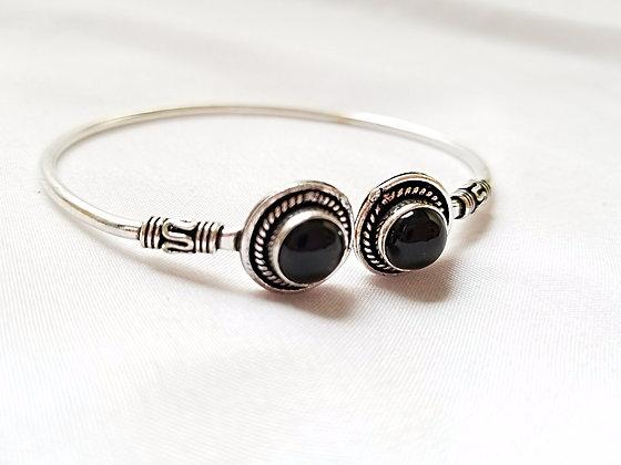 Double Stone German Silver Bracelet