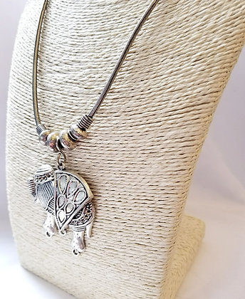 Triangle Elephant Necklace