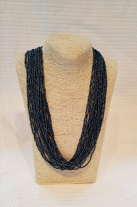 Long Beaded Layered Necklace