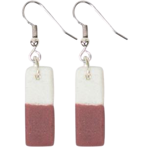Color-Blocked Bar Earrings