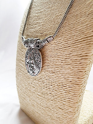 Peacocks in the Tree Necklace