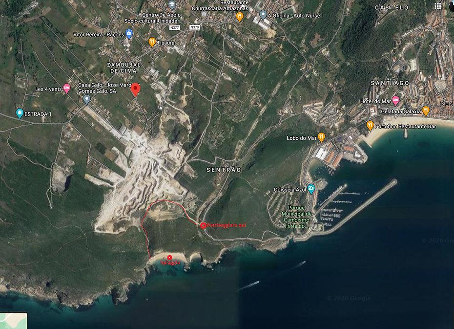 percorso Ribeiro do Cavalo spiaggia beac