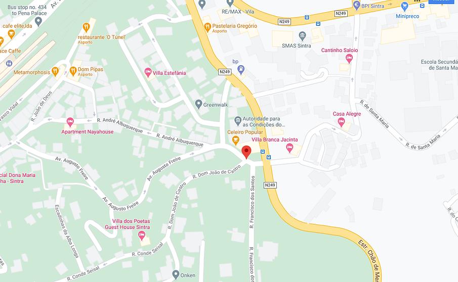 mappa map sintra portogallo portugal