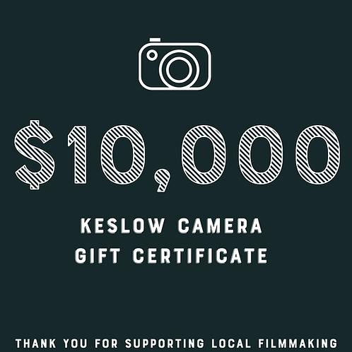 Keslow Camera $10,000 Gift Card Raffle Ticket