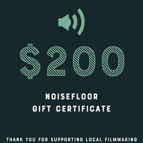 NoiseFloor $200 Gift Certificate Raffle Ticket