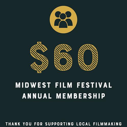 Midwest Film Festival 1 Year Membership Raffle Ticket