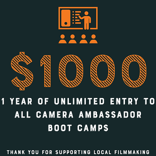 Unlimited Entry To All Camera Ambassador 2021 Boot Camps Gift Card Raffle Ticket