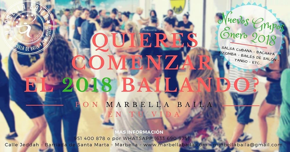 Nuevos cursos de baile a partir del mes de Enero 2017 en Marbella Baila