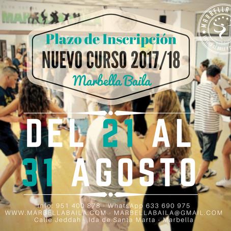 Abrimos Inscripción Curso 2017/18