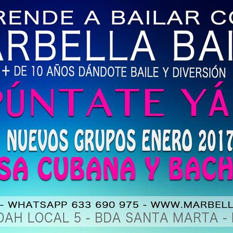 Nuevos grupos Salsa y Bachata iniciación