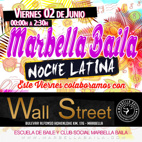 NOCHE LATINA EN DISCO WALL STREET CON MARBELLA BAILA