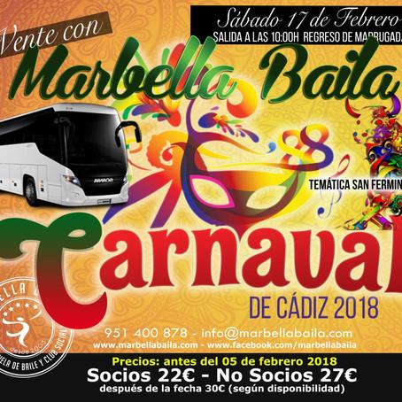 Carnaval de Cádiz 2018 con Marbella Baila
